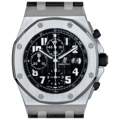 Audemars Piguet Royal Oak Offshore Gents Stainless Steel Black Dial