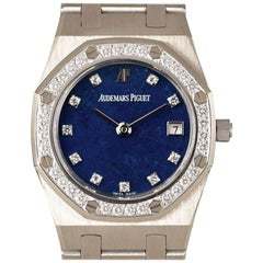 Audemars Piguet Royal Oak Rare Lapis Lazuli Dial Quartz Wristwatch
