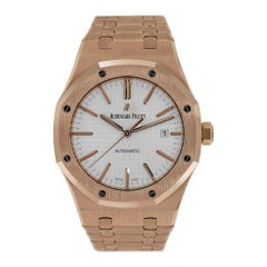 Audemars Piguet Royal Oak Rose Gold Silver Dial Watch 15400OR.OO.1220OR.02