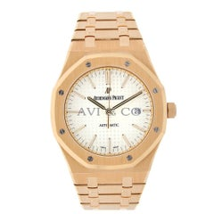 Audemars Piguet Royal Oak Rose Gold White Dial Watch 15400OR.OO.1220OR.02