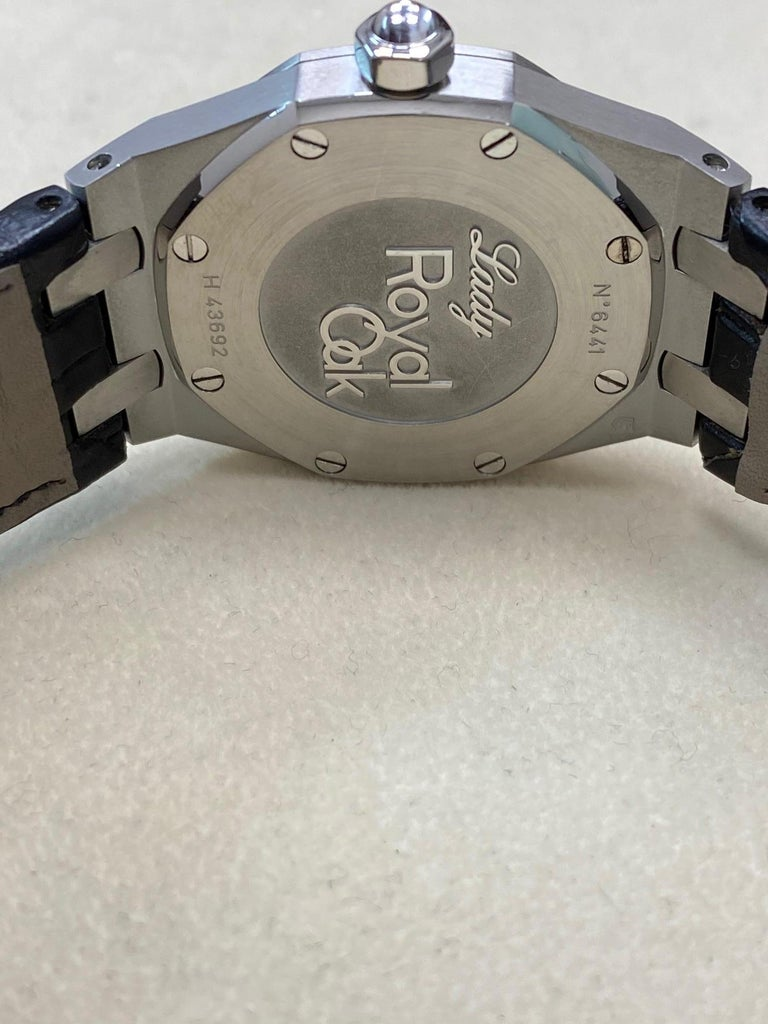 Audemars Piguet Royal Oak Stainless 67651ST.ZZ.1261ST.01 Original Diamond Bezel For Sale 2
