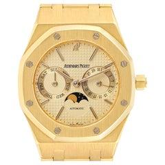 Audemars Piguet Royal Oak Yellow Gold Day Date Moonphase Mens Watch 25594