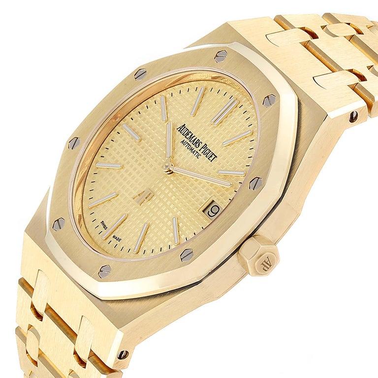 Audemars Piguet Royal Oak Yellow Gold Men's Watch 15202BA Box Papers For Sale 2