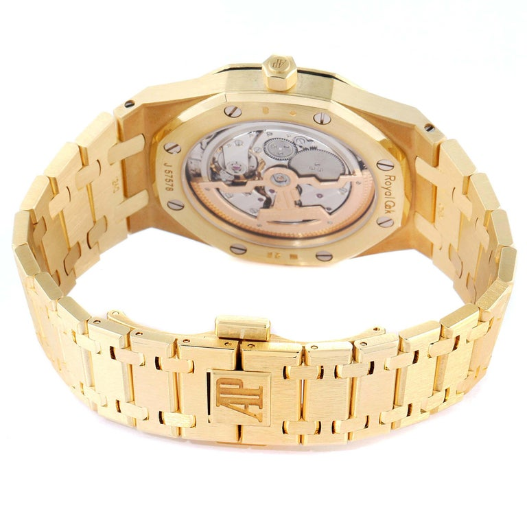 Audemars Piguet Royal Oak Yellow Gold Men's Watch 15202BA Box Papers For Sale 3
