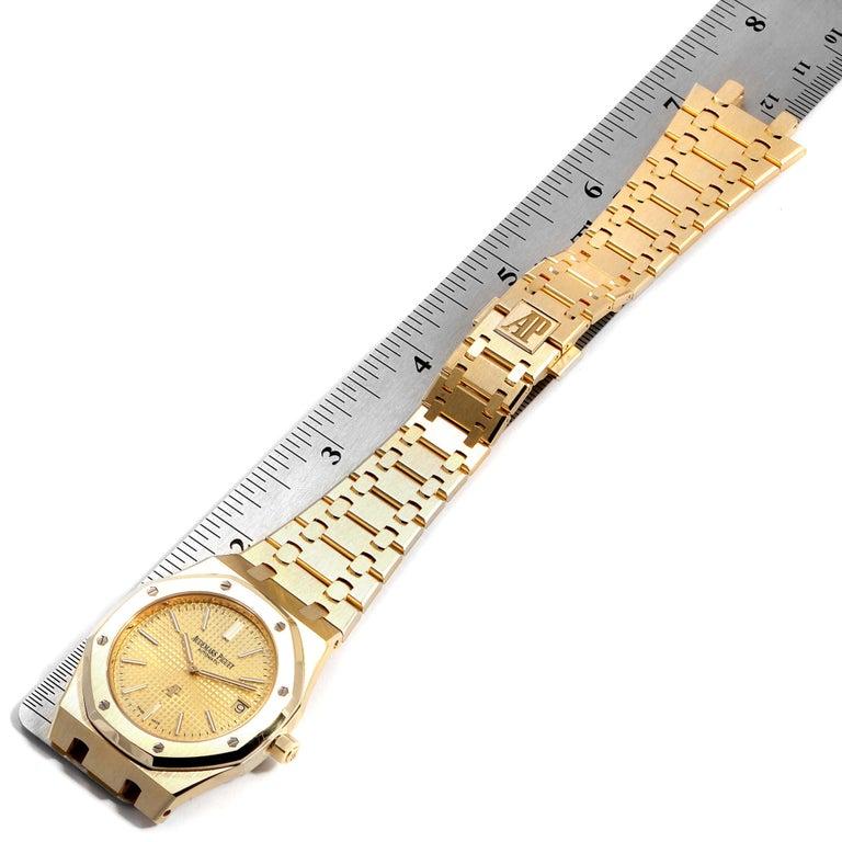 Audemars Piguet Royal Oak Yellow Gold Men's Watch 15202BA Box Papers For Sale 4
