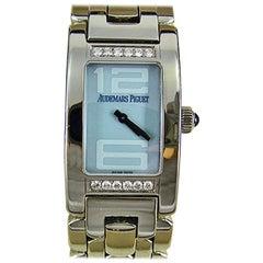 Audemars Piguet Stainless Steel Diamond Large Promesse Quartz Wristwatch