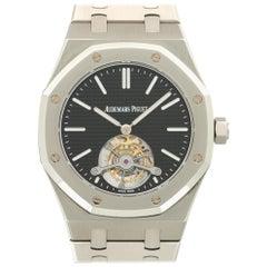 Audemars Piguet Stainless Steel Royal Oak Ultra-Thin Tourbillon Wristwatch