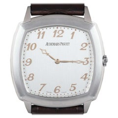 Audemars Piguet Tradition Extra-Thin Gents Platinum Silver Opaline Dial
