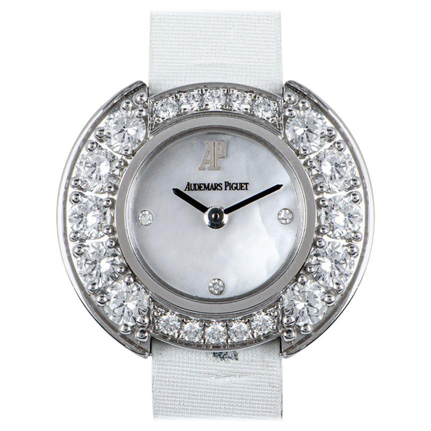 Audemars Piguet Unworn Dress Cocktail Watch 18 Karat White Gold Diamond Watch