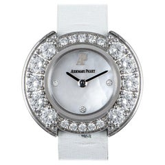 Audemars Piguet Unworn Dress Cocktail Watch 18 Karat White Gold Diamond Watch