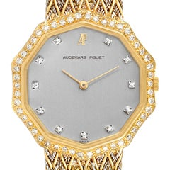 Audemars Piguet Vintage 18k Yellow Gold Diamond Ladies Watch 256731