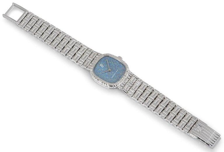 Audemars Piguet White Gold Blue Opal Dial Cocktail Dress Watch For Sale 1