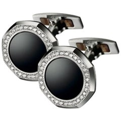 Audemars Piguet White Gold Cufflinks Diamonds and Black Onyx BM0733.BCU.US.Z015