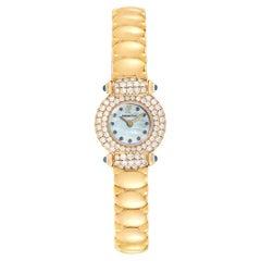 Audemars Piguet Yellow Gold Mother of Pearl Diamond Sapphire Ladies Watch
