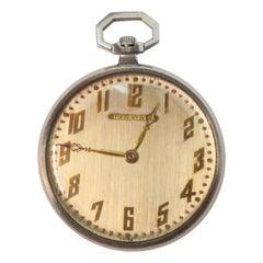 Audemars Piquet Swiss Platinum Display Back Pocket Watch for Tiffany & Co