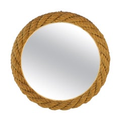 Audoux Minet 1960s Rope Wall Mirror