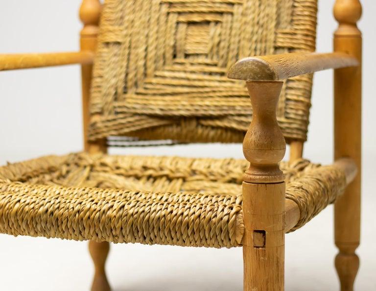 Mid-Century Modern Audoux-Minet Armchair For Sale