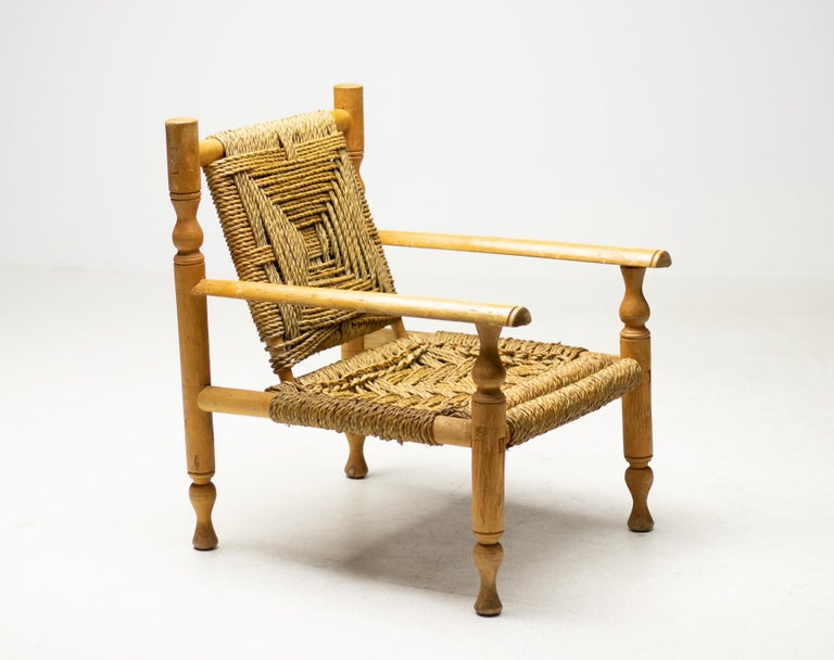 French Audoux-Minet Armchair For Sale