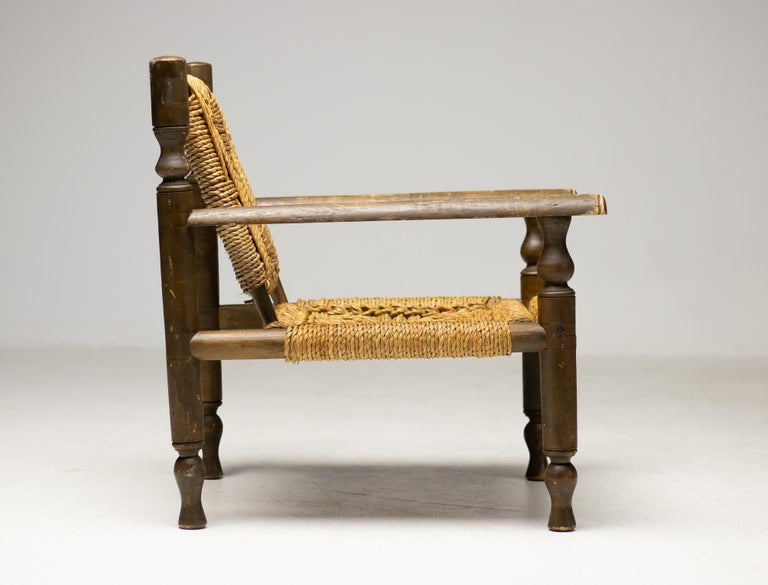 Stained Audoux-Minet Armchair For Sale