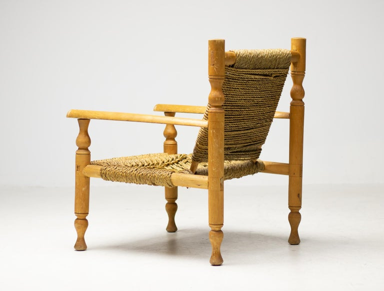 Audoux-Minet Armchair In Good Condition For Sale In Dronten, NL