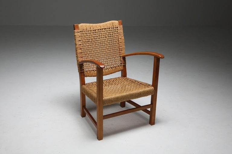 Mid-Century Modern armchair, Audoux Minet, France, 1960s