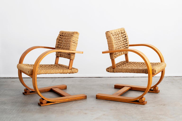 Audoux Minet Armchairs In Good Condition For Sale In Los Angeles, CA