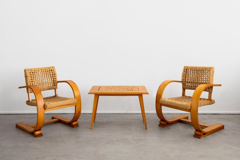 French Audoux Minet Armchairs For Sale