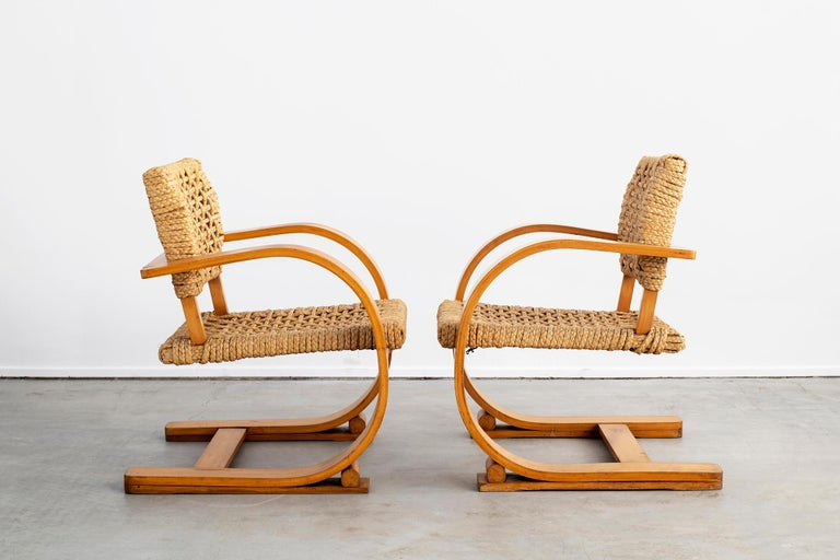 Mid-20th Century Audoux Minet Armchairs For Sale