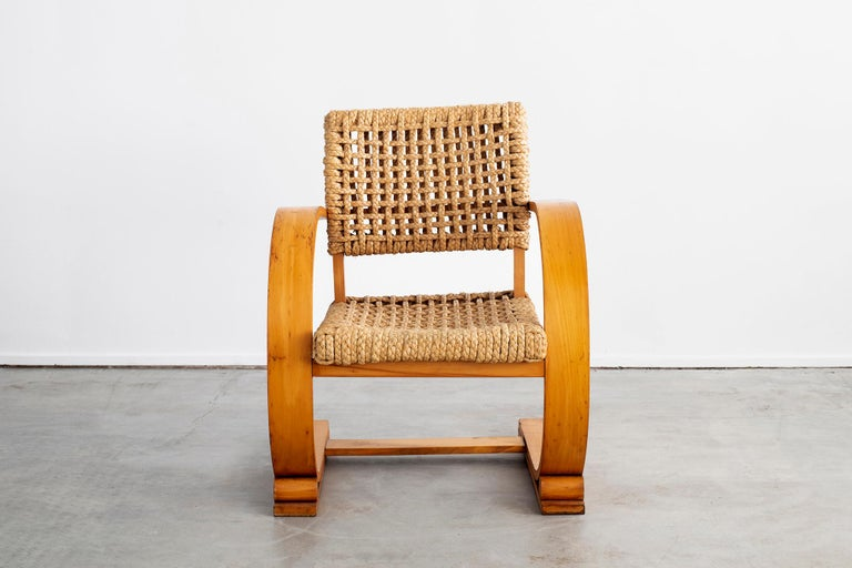 Rope Audoux Minet Armchairs For Sale