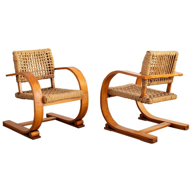Audoux Minet Armchairs For Sale