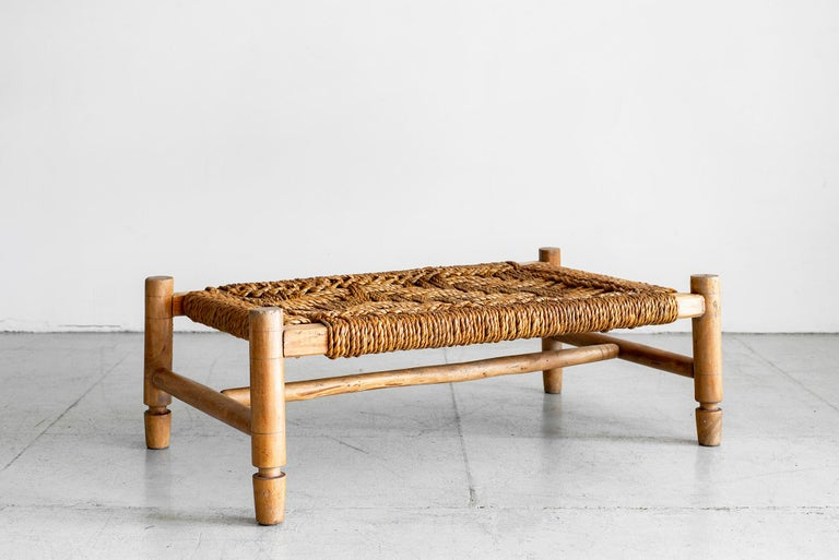 Audoux Minet bench with woven rope top
