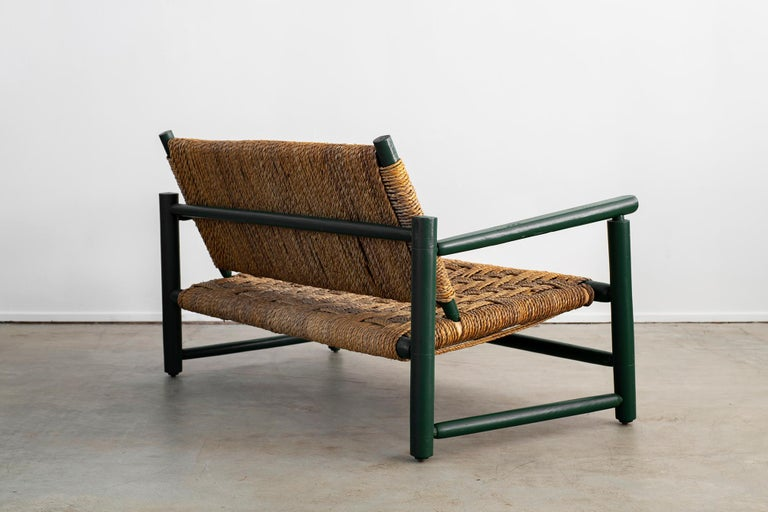 Audoux Minet Bench In Good Condition For Sale In Los Angeles, CA