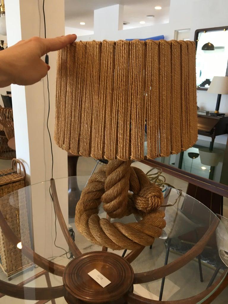 Mid-Century Modern Audoux Minet Knot Lamp For Sale