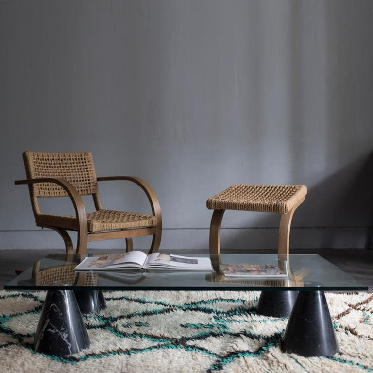 Audoux-Minet Rope Armchair for Vibo, 1950s In Excellent Condition For Sale In Tokyo, JP