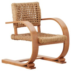 Audoux & Minet Rope Armchair for Vibo Vesoul, France, c1940