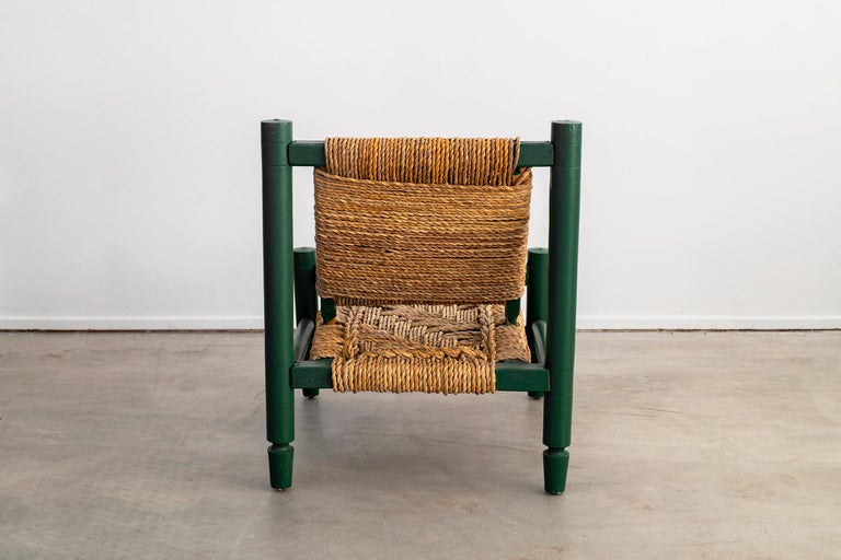 Mid-20th Century Audoux Minet Rope Chair For Sale