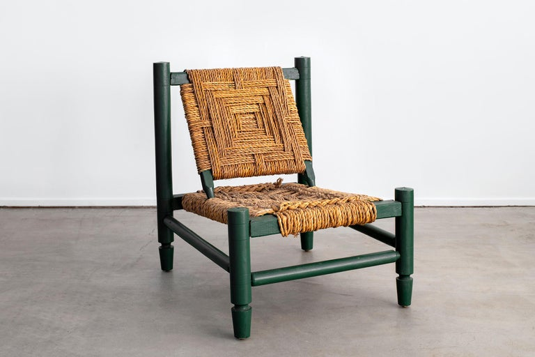 Audoux Minet Rope Chair For Sale 1
