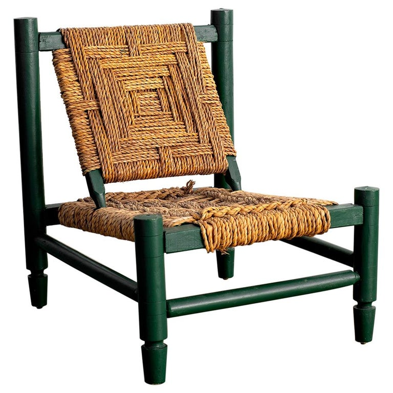 Audoux Minet Rope Chair For Sale
