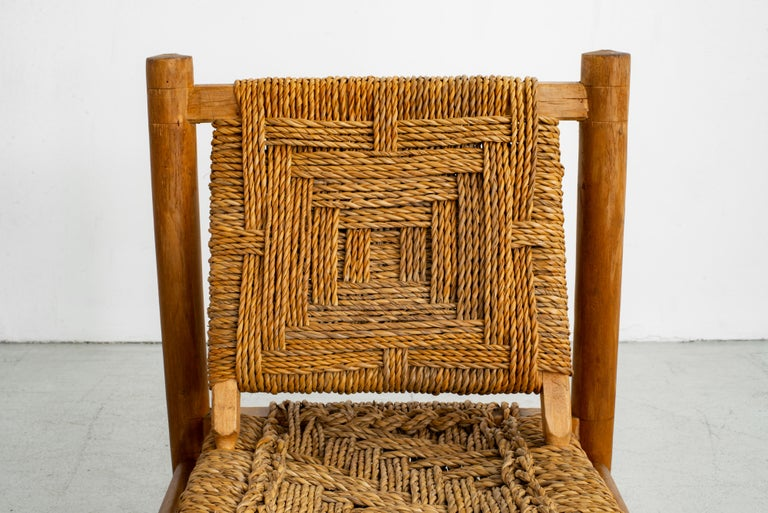 Audoux Minet Rope Chairs For Sale 5