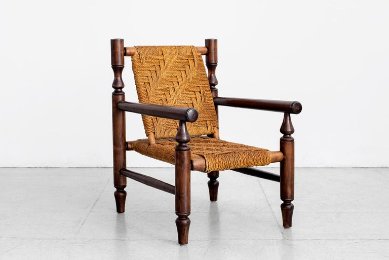 Audoux Minet Rope Chairs In Good Condition For Sale In Los Angeles, CA
