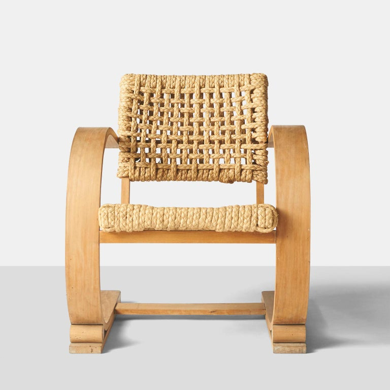 French Audoux-Minet, Rope Chairs For Sale