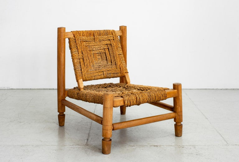 Audoux Minet Rope Chairs For Sale 1