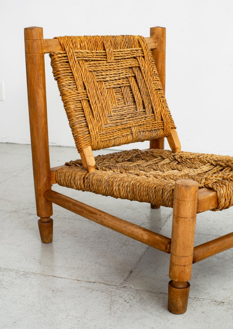 Audoux Minet Rope Chairs For Sale 3