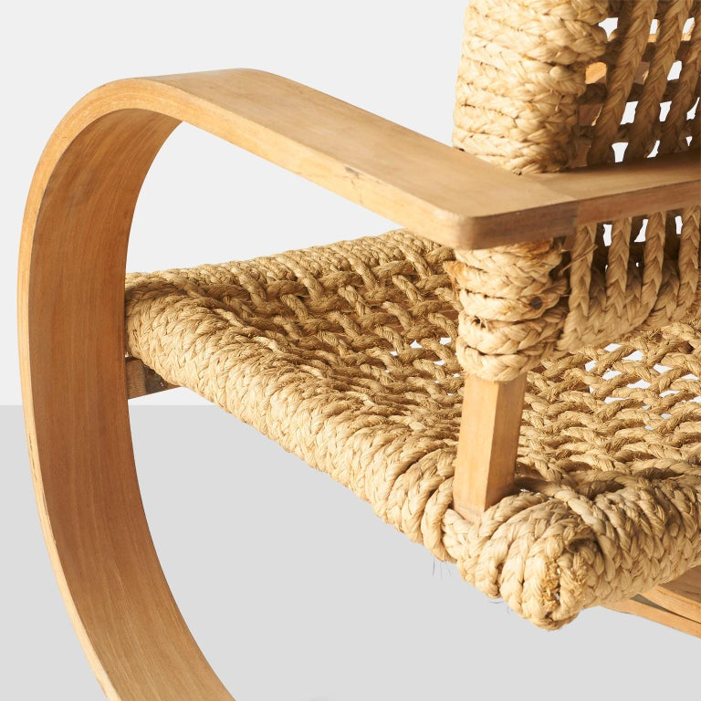 Audoux-Minet, Rope Chairs For Sale 2