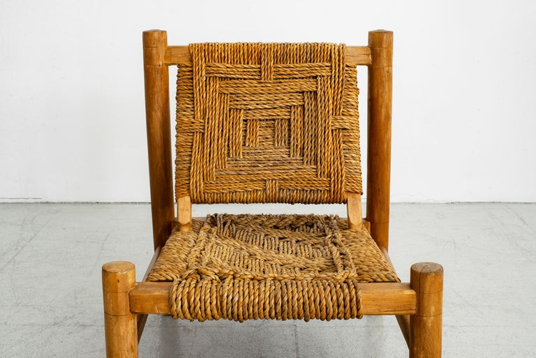 Audoux Minet Rope Chairs For Sale 4