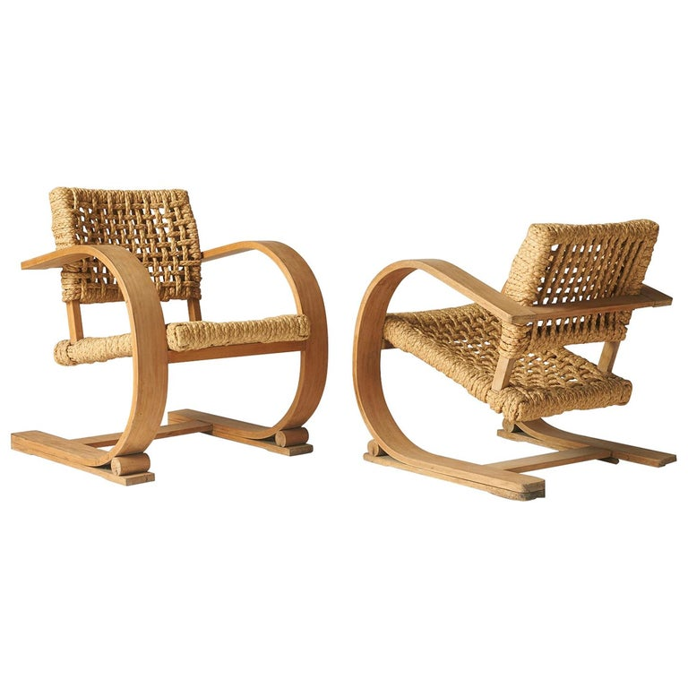 Audoux-Minet, Rope Chairs For Sale