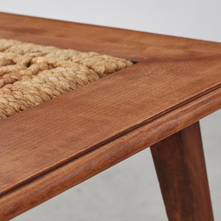 Seagrass Audoux Minet Rope Coffee Table Vibo Vesoul, France, 1940s For Sale