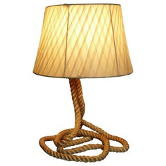 Audoux Minet Rope Table Lamp, 1950 by Adrien Audoux and Frida Minet