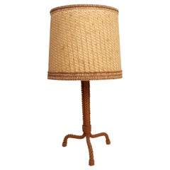 Audoux Minet Rope Table Lamp, 1950