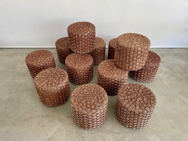 Audoux Minet Style Rope Stools For Sale 7